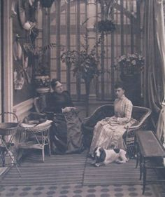 Victorian royalty knitting