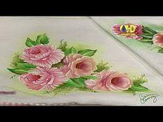 Sabor de Vida Artesanatos   Pintura Floral por Camila Camargo - 01 de Junho de 2014 - YouTube