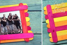 Popsicle Stick Picture Frame Ideas from CraftySticks.com http://www.craftysticks.com/Popsicle-Stick-Craft-Photo-Inspiration_b_8.html