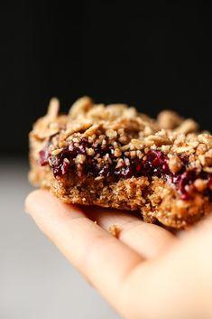 No-Bake Cherry Chia Crumble Bars