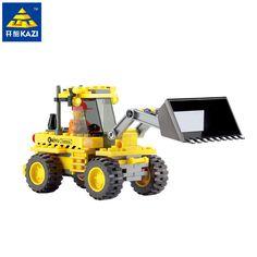 Kazi City Bulldozer Blocks 117pcs Bricks Building Blocks Sets Education Toys For Children
