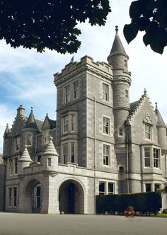 Ardoe House Hotel, a 19th century mansion in Aberdeen, Scotland. Like living in a castle.