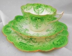 SHELLEY WILEMAN FOLEY SNOWDROP TEA CUP AND SAUCER TRIO by vicky