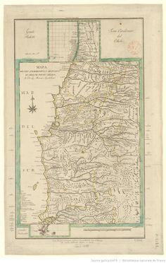 Mapa del pais que habitan los Araucanos en Chile, de Poncho chileno, y de las misiones apostolicas   Gallica