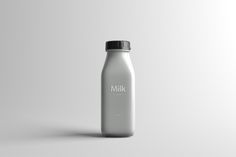Milk Bottle Packaging Mock-Up on Behance