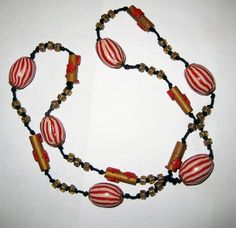 Polymer clay necklace, circus themed