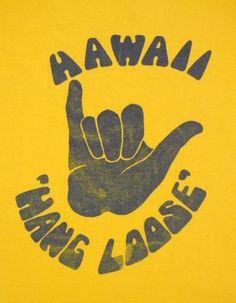 Hang Loose Vintage Hawaii poster