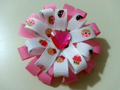 Adorable Cupcake Hair Bow for Little Girls by KristyJsCreations, $6.00