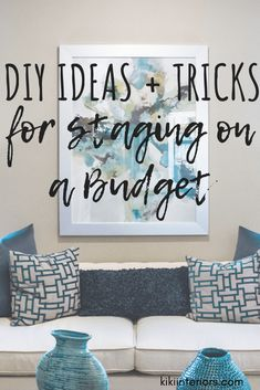 Home staging tips and tricks for any budget. You don't have to spend a fortune to make your home look it's best. These easy and budget friendly ideas. decor tips DIY Ideas and Tricks for Staging on a Budget Tips And Tricks, Easy Home Decor, Cheap Home Decor, Home Design, Design Ideas, Interior Design, Design Inspiration, Home Renovation, Home Remodeling