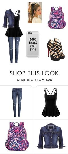 """""""Untitled #26"""" by a-hidden-secret ❤ liked on Polyvore featuring H&M, Doublju, Vera Bradley, maurices, Casetify and Christian Louboutin"""