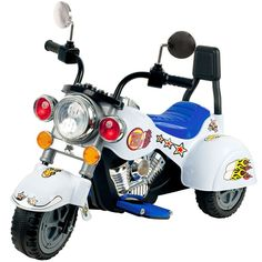 Ride on Toy, 3 Wheel Trike Chopper Motorcycle for Kids by Lil' Rider - Battery Powered Ride on Toys for Boys and Girls, Toddler and Up - White Trike Chopper, Chopper Motorcycle, Scrambler Motorcycle, Motorcycles, Toys For Boys, Kids Toys, Kids Motorcycle, Motorcycle Party, Chrome Colour