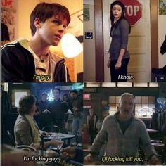 Fiona's reaction vs Terry's reaction