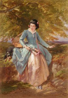 Joseph John Jenkins (British, 1811-1885) Idle Moments