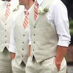 I really like the casual groomsmen attire for outdoor weddings.