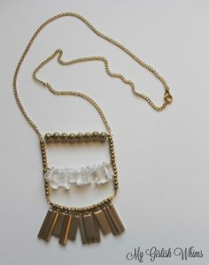 Gold Pendant Chain Necklace DIY