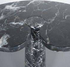 Angelo Mangiarotti Tall Table Eros Black Marquina Marble, Italy