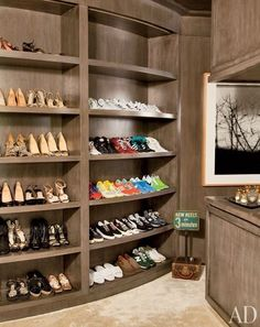 And some celebs just have walls full of sneakers. | 25 Ways Celebrity Closets Are Different From Yours