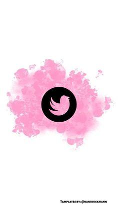Capa de destaque do Instagram Prints Instagram, Instagram Dp, Instagram Symbols, Instagram Story, Logo Twitter Png, Pink Twitter, Twitter Icon, Pink Clouds Wallpaper, Wallpaper Iphone Cute