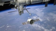 Dragon approaching Space Station