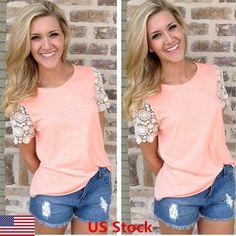 New Fashion Women Summer Short Sleeve Vest Top Blouse Casual Tank Tops T-Shirt