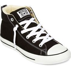 Converse Chuck Taylor All Star Street Mens Mid Sneakers ($60) ❤ liked on Polyvore featuring shoes, sneakers, converse, rubber sole shoes, converse trainers, star sneakers, star shoes and converse shoes