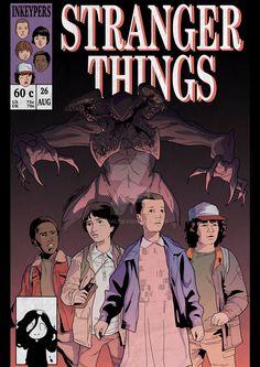 STRANGER THINGS Comic Book Cover by Hiroim.deviantart.com on @DeviantArt