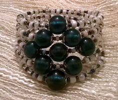 Playing with glass beads. Bracelet on memory wire. Still available.
