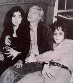 John Lennon, Yoko Ono and Andy Warhol