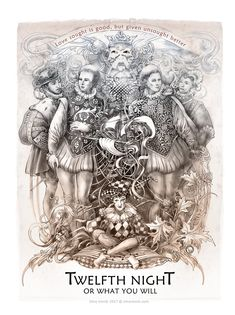A set of 12 illustrations of the works of William Shakespeare by Saint-Petersburg-based artist Irina V. Fine Art Drawing, Twelfth Night, William Shakespeare, Doodle Art, Color Inspiration, Evolution, Fairy Tales, Stencils, Calendar