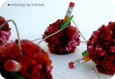 Raising up Rubies: pom pom apple garland ... ♥
