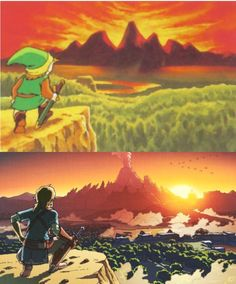 Nintendo recreated the first zelda game artwork