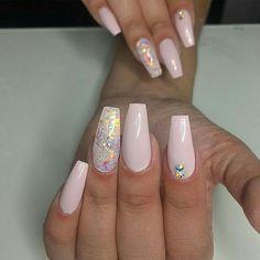 Nail art, nail polish, pink and white nails