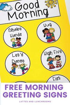 Morning Greeting Signs - Free