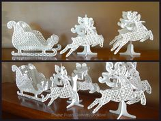 Royal Icing Lace Patterns Printable   Royal Icing Sleigh and Reindeer
