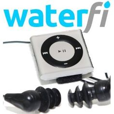 Waterfi Shuffle Swim Kit- Waterproof MP3 Player, Underwater Headphones, Mounting Kit - maybe this will motivate me to start my swim training