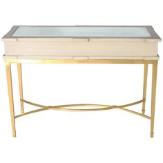 Wood Console with Gold Leaf Base, circa 1900 | From a unique collection of antique and modern console tables at https://www.1stdibs.com/furniture/tables/console-tables/