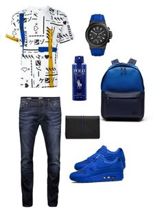 Designer Clothes, Shoes & Bags for Women Tomboy Fashion, Men's Fashion, Fashion Guide, Fashion Outfits, Fashion Ideas, Swag Outfits, Sport Outfits, Cool Outfits, Blue Sneakers Outfit