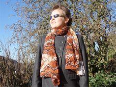 PLIS de peau de serpent foulard  #foulard peau de par CharmeParisien