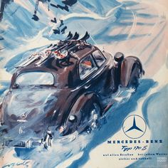 Mercedes 1951 winter impression