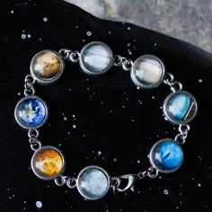 Planet bracelet<--pretty, but missing Pluto since it was demoted. :-)