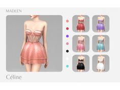 Madlen Celine Dress The Sims 4 Pc, Sims 4 Teen, Sims Four, Sims 4 Mm Cc, Sims Baby, Maxis, Sims 4 Mods Clothes, Sims 4 Clothing, Sims 4 Cas Mods