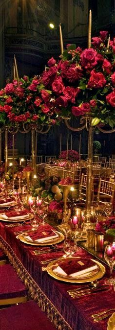 Stunning Red Roses Candelabra's