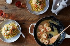 Spiced Shrimp in Lemon-Ginger Sauce recipe: A killer summer combo. Sauce Recipes, Fish Recipes, Seafood Recipes, Dinner Recipes, Cooking Recipes, Healthy Recipes, Entree Recipes, Cooking Ideas, Healthy Food
