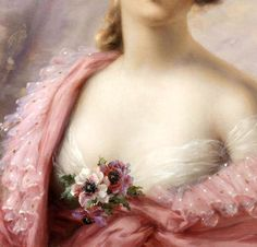 """A Summer Beauty"" (detail) by Emile Vernon (1872-1919)."