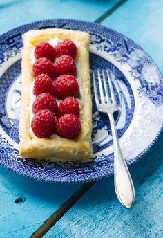 Puff Pastry Tart with Mascarpone and Raspberries