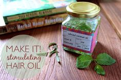 Stimulating Hair Oil Recipe - goes right along with the No (sham)Poo pin I found earlier today...