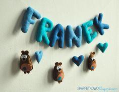 felt bear heart