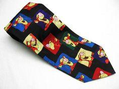 TIGGER Tiger POOH Disney NECKTIE COLORFUL Black Neck Tie FREE SHIPPING! | eBay $16.99