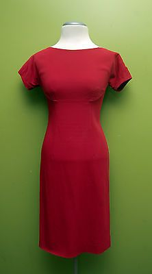 Moschino Cheap & Chic Red Form Fitting Cap Sleeve Dress