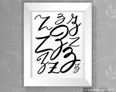 Z Collage  Hand Lettered Capital Letter Zs  Wall Decor  Z